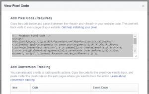 Facebook Pixel koda