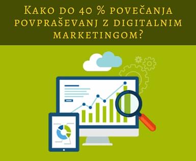 40% povečanje povpraševanj z digitalnim marketingom