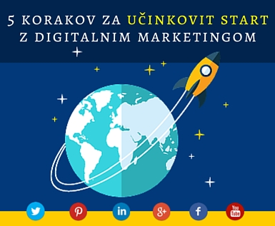 5 korakov za učinkovit start z digitalnim marketingom
