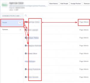 Pregled upravljalcev vašega Facebook profila
