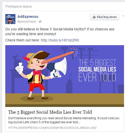 Vabljiv naslov in osebni dizajn oglasa