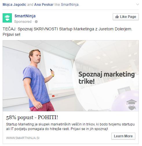 Facebook oglaševanje - korak #3